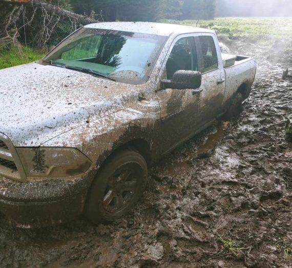 Stuck in mud!