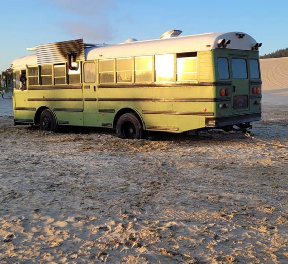 Bus Stuck in Sand