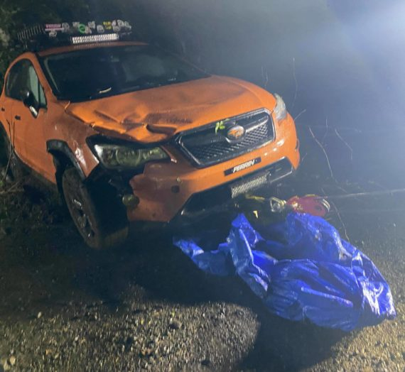 Subaru rolled and crashed